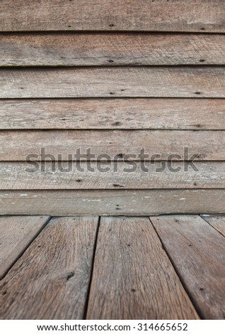 Wooden walls and old wood for background.