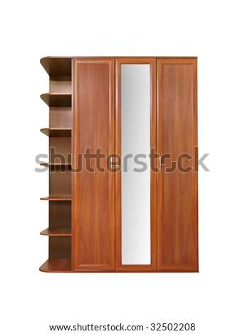 Wooden wardrobe - stock photo