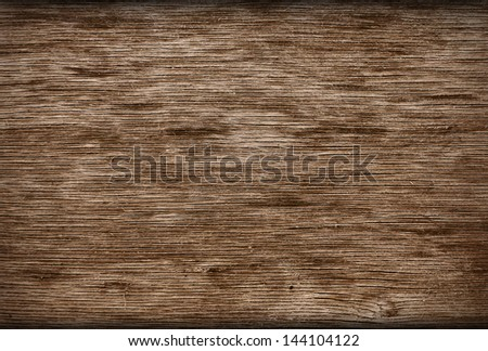 Wooden weathered board - stock photo