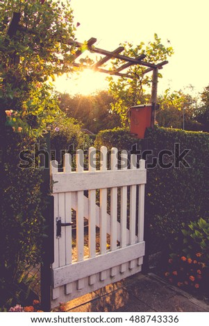 Garden Gate Stock Images Royalty Free Images Vectors