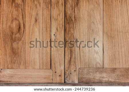 Wooden windows - stock photo