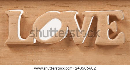 Wooden words love for Valentine's Day  - stock photo