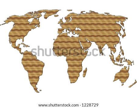 Wooden World background Building - stock photo
