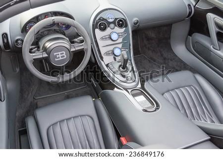 woodland hills ca december 7 2014 bugatti veyron interior on display at - Bugatti Interior 2014