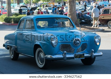 Woodland Hills, USA - November 1, 2015: Studebaker on display at the Supercar Sunday event.