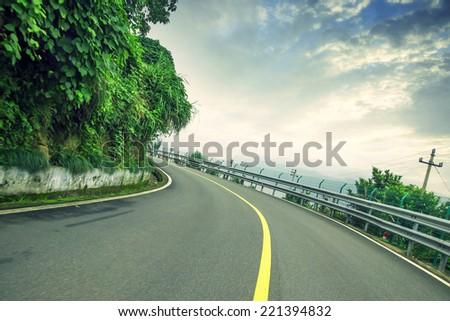 Woods road  - stock photo