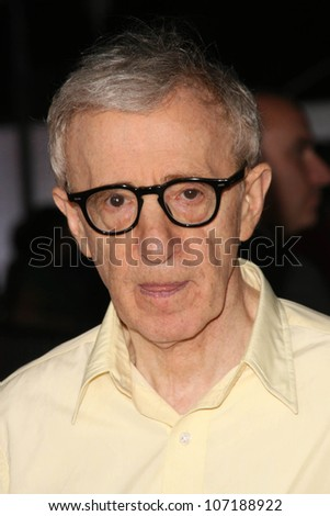 "Woody Allen  at the Los Angeles Premiere of ""Vicky Cristina Barcelona"". Mann Village Theatre, Westwood, CA. 08-04-08 - stock photo"