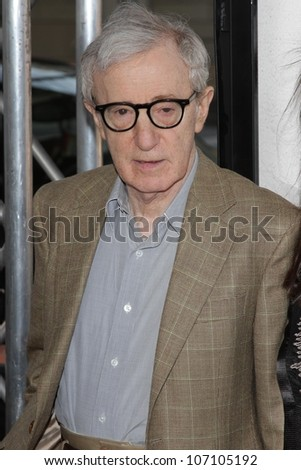 "Woody Allen at the ""To Rome With Love"" Premiere as part of the 2012 Los Angeles Film Festival, Regal Cinemas, Los Angeles, CA  06-14-12 - stock photo"