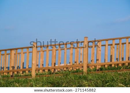 Woody fence - stock photo