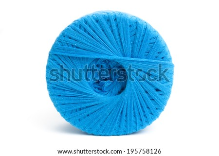 Wool clew,isolated on white background.