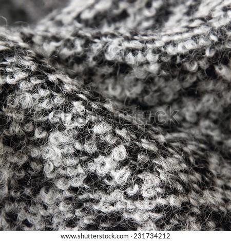 Wool grey coat texture - stock photo