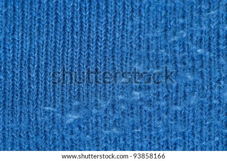 Wool with and without lint - stock photo