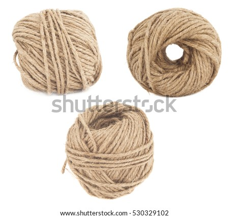 wool yarn set isolated on white background