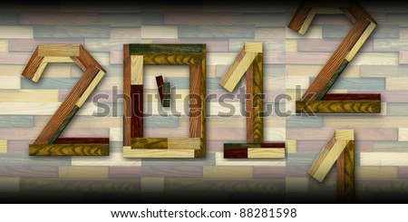 Word alphabet concept - New year coming - stock photo