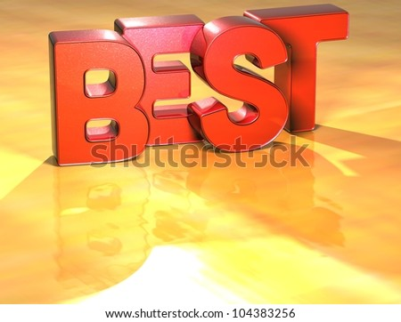 Word Best on yellow background (high resolution 3D image)