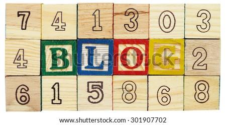 "Word ""BLOG"" from alphabet wooden blocks - stock photo"