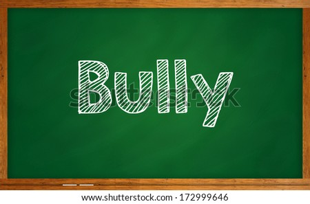 Word bully on chalkboard - stock photo