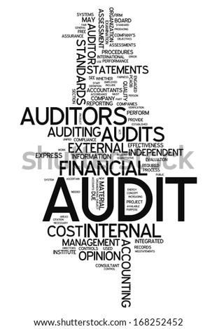 Word Cloud Audit - stock photo