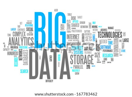 Word Cloud Big Data - stock photo