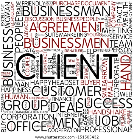 Word cloud - client