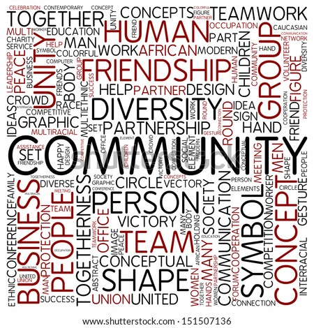 Word cloud - community - stock photo: www.shutterstock.com/s/community+service/search.html