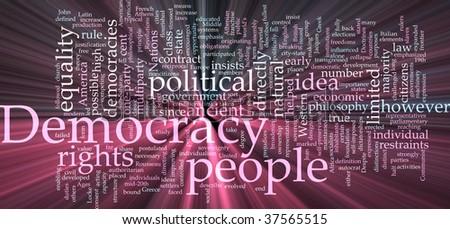 Word Cloud Concept Illustration Democracy Political Stock Vector ...