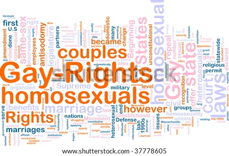Word cloud concept illustration of gay rights - stock photo