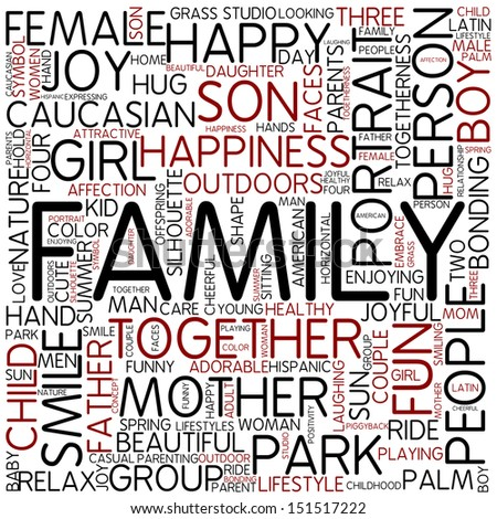 Word cloud - family