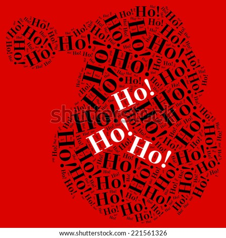Word cloud illustration related to Santa Claus celebrated on December.