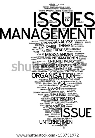 Word cloud -  issue management