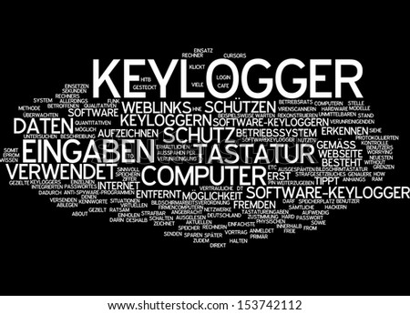 Word cloud - keylogger