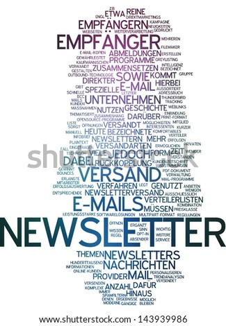 Word cloud -  newsletter