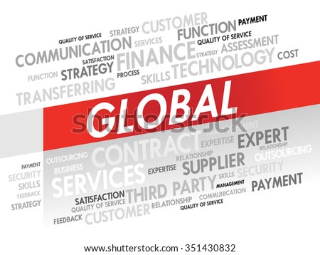 Word cloud of GLOBAL related items, presentation background
