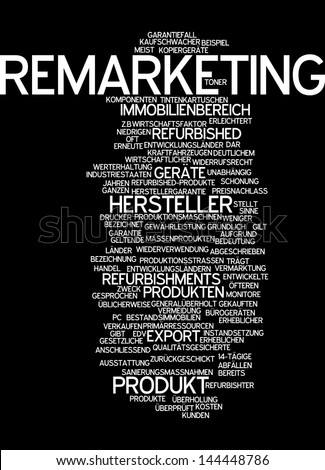 Word cloud -  remarketing