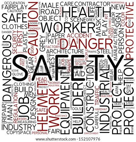 Word cloud - safety - stock photo