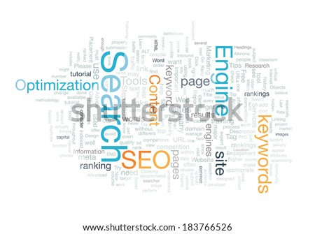 Word cloud seo concept - stock photo