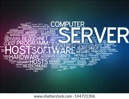 Word cloud -  server - stock photo