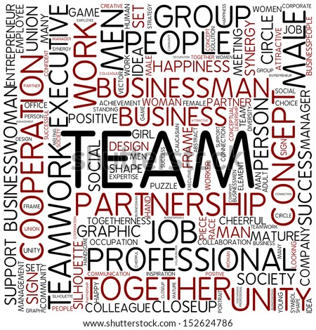 Word cloud - team - stock photo
