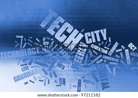 Word cloud technology, Background concept - stock photo