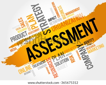 Word Cloud with Assessment related tags, business concept - stock photo