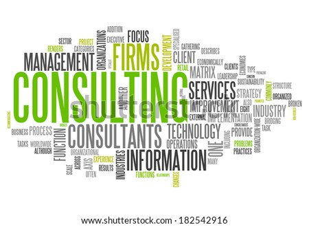 Word Cloud with Consulting related tags