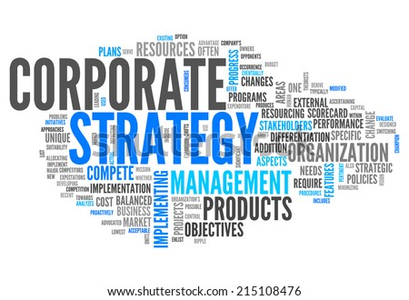 Word Cloud with Corporate Strategy related tags