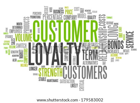 Word Cloud with Customer Loyalty related tags - stock photo