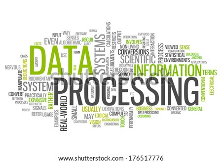 Word Cloud with Data Processing related tags