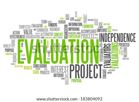 Word Cloud with Evaluation related tags