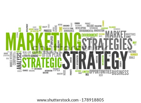 word cloud marketing strategy related tagsのイラスト素材 178918805