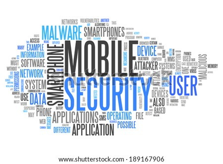 Word Cloud with Mobile Security related tags