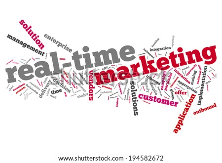 Word Cloud with Real-Time Marketing related tags - stock photo