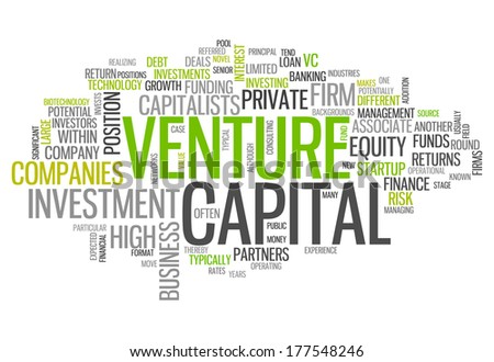 Word Cloud with Venture Capital related tags