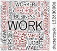 Word cloud - work - stock